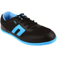 Fuel Mens Black Blue Laced Up Casual Shoes