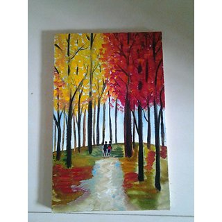 Couple Walking Canvas Painting