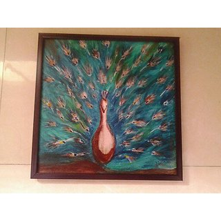 Beautiful Peacock Canvas Painting