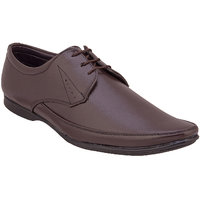 Namah Men'S Brown Leather Lace Up Formal Shoes