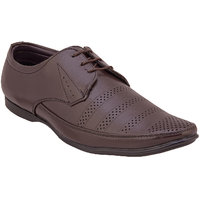 Namah  Men'S Brown Leather Lace-Up Formal  Shoes