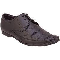 Namah  Men'S Black Leather Lace-Up Formal  Shoes
