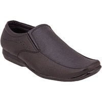 Namah  Men'S Black Leather Slip On Formal  Shoes