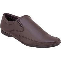 Namah  Men'S Brown Leather Slip On Formal  Shoes