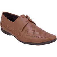 Namah  Men'S Tan Leather Lace-Up Formal  Shoes