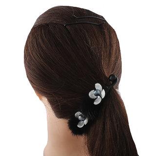 Anuradha Art Black Colour Fancy Classy Designer Hair Accessories Banana Clip & Pin For Women