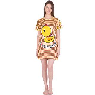 Buy Long Top Nightwear Yellow Maroon Print 675d2801a