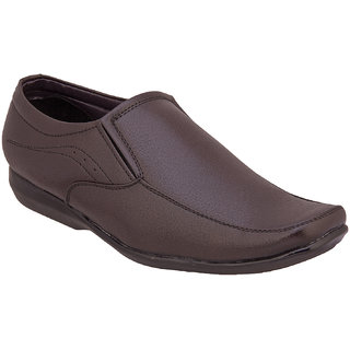 Namah  Men'S Brown Leather Slip On Formal  Shoes
