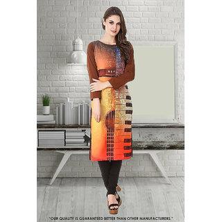 1 Stop Fashion Ethnic Basket Multi Color Crepe Full Stitched Designer Wear Digital Printed Kurti-50323