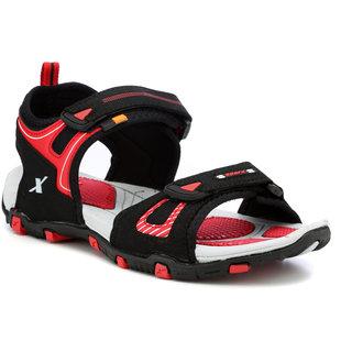 4927d21e7 Buy Sparx Men Black   Red Floater Sandals (SS-459) Online   ₹1149 ...
