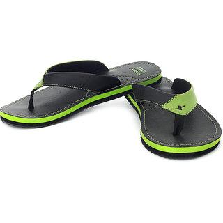 Sparx Men Green & Black Slippers (SFG-523)