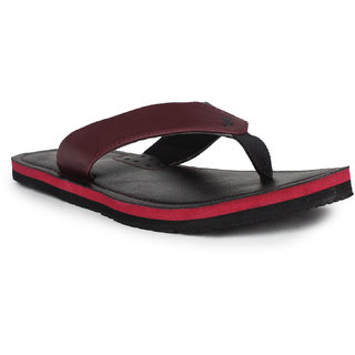 Sparx Men Red & Black Slippers (SFG-523)