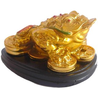 home decore three leg good luck frog feng shui With a Coin