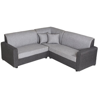 Gioteak Havana Black Grey L Shaped Sofa Set 2 C