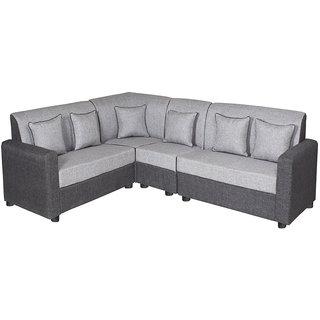 Gioteak Havana Black Grey L shaped sofa set 2+2+1+C