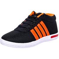 Birdy Vintex Men'S Black Orange Sports Shoes