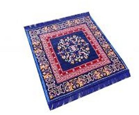 Beautiful Winter Special Floor Sitting Mat For Home And Outdoor - ( Blue )