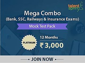 Test Pack- MEGA COMBO - (SBI, IBPS, RBI, SSC - (CGL, CHSL, MTS), Railways and Insurance exams)