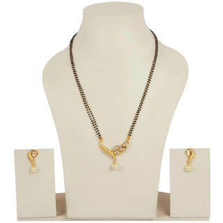 Much More Gold Plated White AlloyNecklace Set For Women