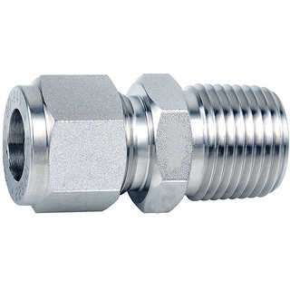 Om Tubes Stainless Steel 304 Male Connector Tube Fittings 3mm x 1/8NPT (Pack of 10)