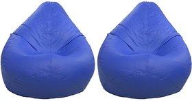 Home Berry  XXL Blue Bean Bag Cover Buy 1 Get 1