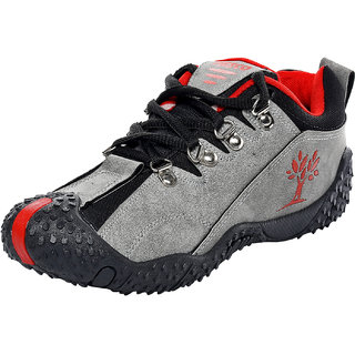 Men's Casual Shoes (Grey & Red)