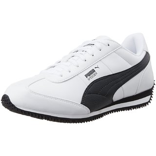 buy puma men black white laceup casual shoes online