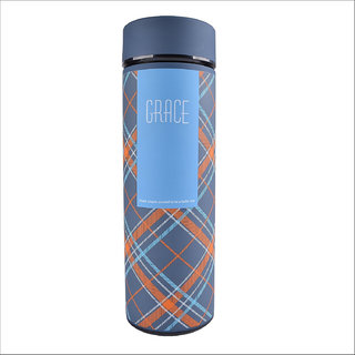 Home Story Double Wall Vacuum Flask  Insulated Thermos Travel Water Bottle - Stainless Steel Infuser with Strainer - (GR