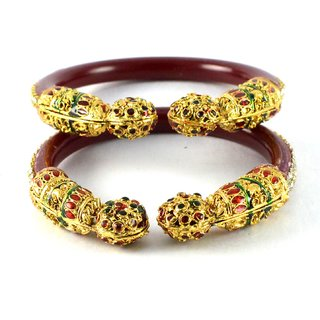 Radiant  bangles colour red