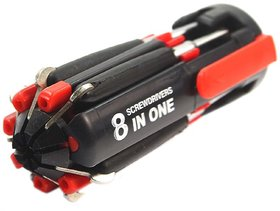 Ws deal 8 In 1 Multi Screwdriver With LED Portable Torch
