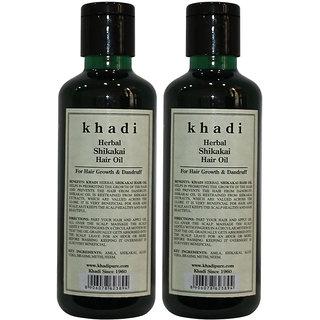 Khadi Herbal Shikakai Hair Oil - 210ml (Set of 2)