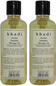Khadi Herbal Jasmine Massage Oil - 210ml (Set of 2)