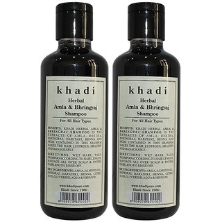 Khadi Herbal Amla  Bhringraj Shampoo - 210ml (Set of 2)