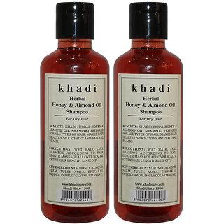 Khadi Herbal Honey  Almond Oil Shampoo - 210ml (Set of 2)