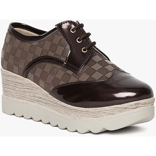 Marc Loire Women's  Brown Printed Casual Shoes