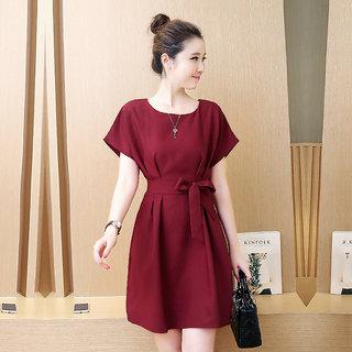 a3f5d1150 Buy Westrobe Women Maroon Plain Western Dress Online   ₹899 from ...