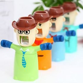 Cowboy Automatic Toothpaste Dispenser Toothbrush Holder