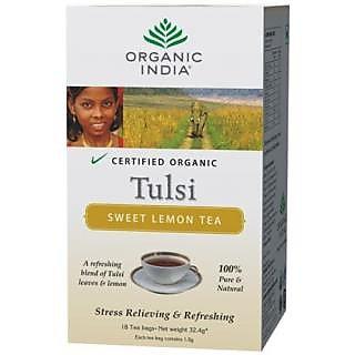 ORGANIC INDIA Tulsi Sweet Lemon 18 TB (Pack of 2)