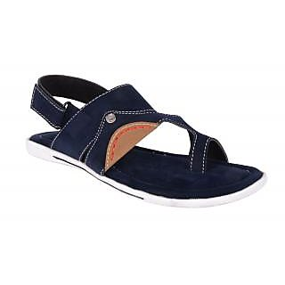 Lee Peeter Men's Blue Velcro Sandals