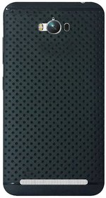 RSC POWER+ 360 Protection Premium Dotted Designed Soft Rubberised Back Case Cover For  Asus Zenfone Max -Black