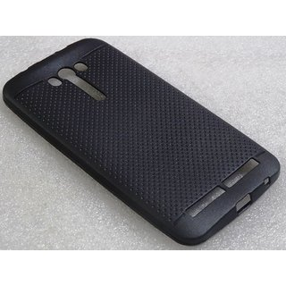 ee06e3e4c33 Buy RSC POWER+ 360 Protection Premium Dotted Designed Soft Rubberised Back  Case Cover For Asus Zenfone 2 Laser 5.5 -Black Online - Get 60% Off