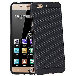RSC POWER+ 360 Protection Premium Dotted Designed Soft Rubberised Back Case Cover For  Gionee S6 -Black