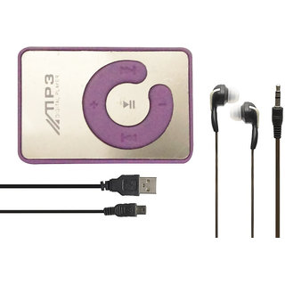 SMM MINI IPOD MP3 player With Data cable and earphone (purple)