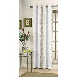 Kalaa Synthetic Cream Window Curtain (Pack of 1)