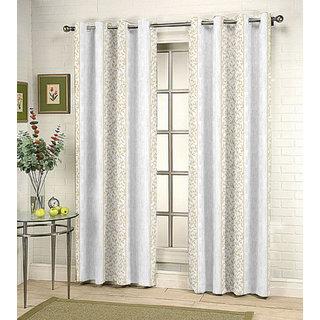 Kalaa Synthetic Cream Window Curtain (Pack of 4)