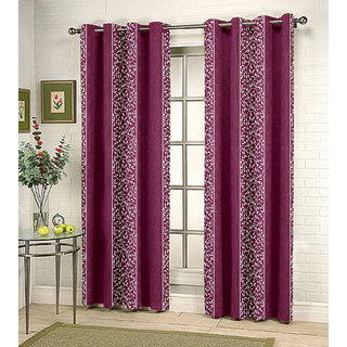 Kalaa Synthetic Purple Window Curtain (Pack of 20)