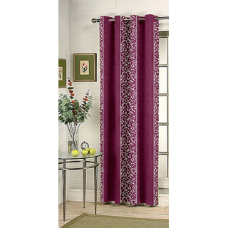 Kalaa Synthetic Purple Door Curtain (Pack of 1)