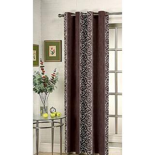 Kalaa Synthetic Brown Door Curtain (Pack of 1)