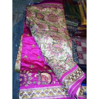 1M Multicolor Cotton Self Design Saree With Blouse