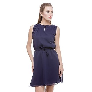 Being Fab Blue Plain Bodycon Dresses For Women